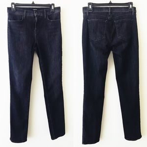 J BRAND High Rise Rail Jeans in Transmiss